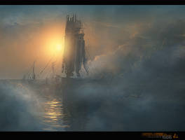 abstract ship by merl1ncz