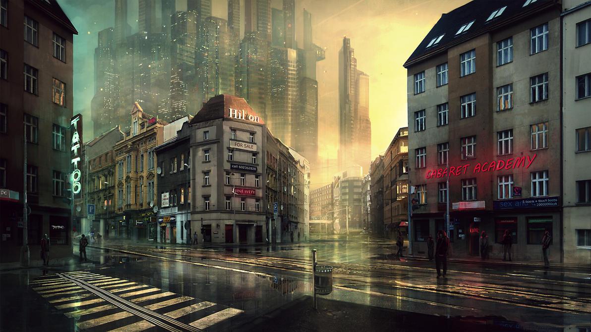 Prague in future by merl1ncz on DeviantArt