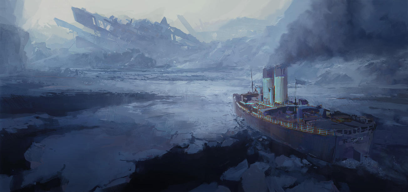 Arctic shipwreck by merl1ncz
