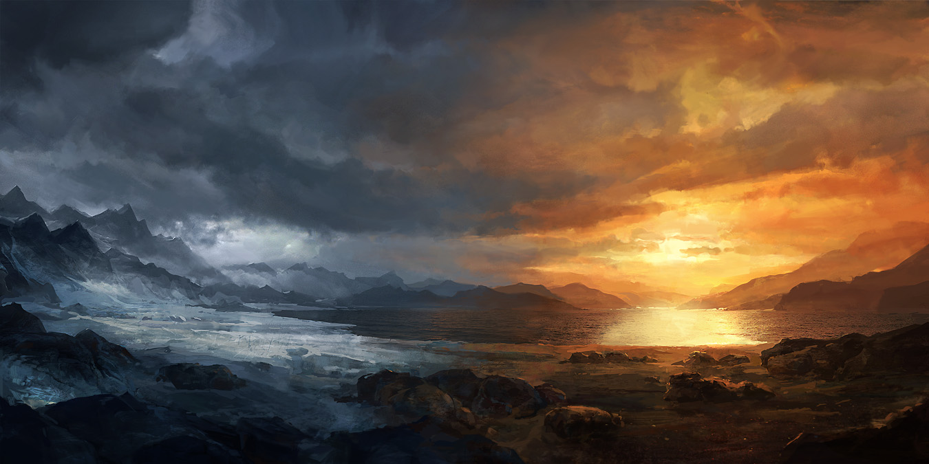 Ice and fire by merl1ncz