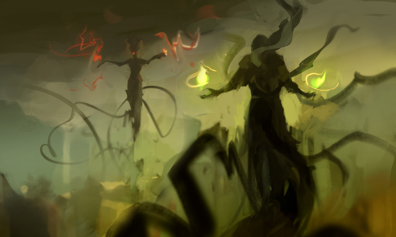 Witch fight by merl1ncz