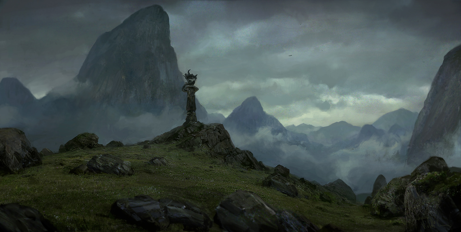 Mountain god by merl1ncz