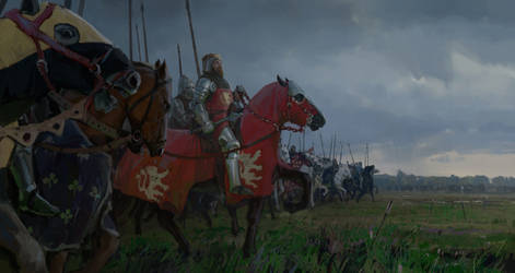 King John of Bohemia at the Battle of Crecy by merl1ncz