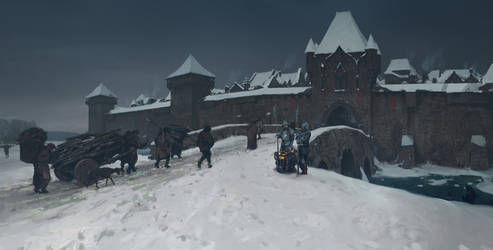A Medieval Town (Midwinter)