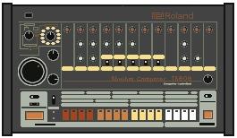 Pixel Roland TR-808 by gfoyle
