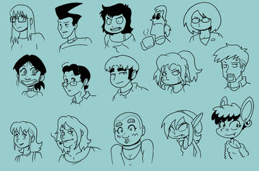 15 Random Characters by Crave-The-Bullet