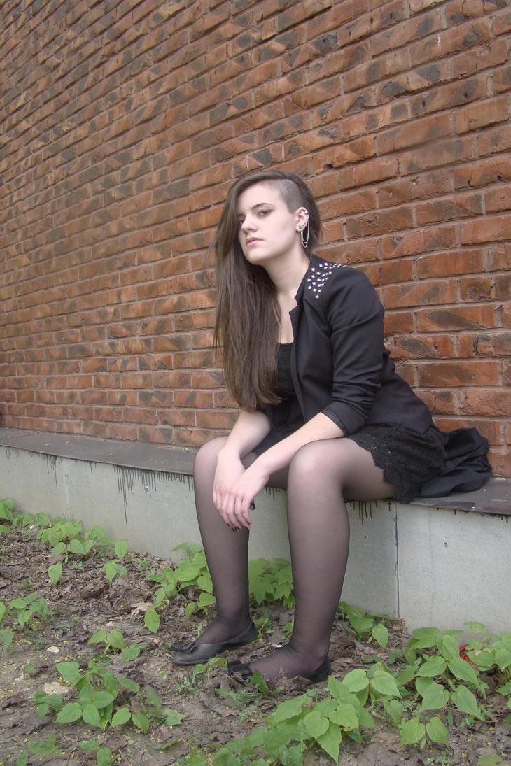 Irina black dress stock 17 by Panopticon-Stock