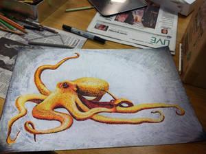 Pointillism Octopus