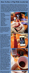Cosplay Tutorial: Dyeing A Wig (Acrylic Ink) by Sparx-the-Fox