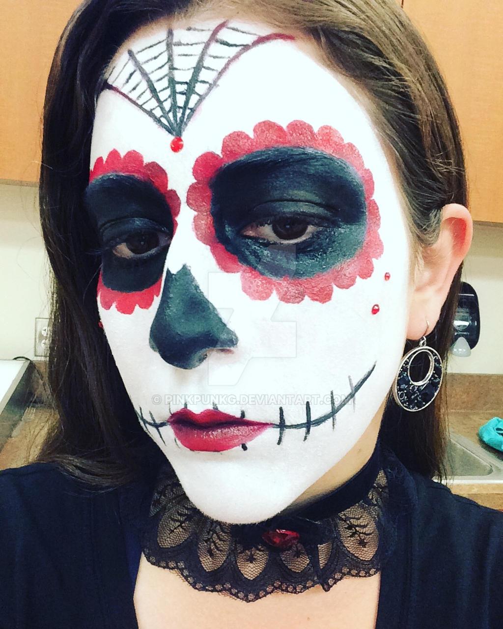 ... Dia de los muertos Makeup by PinkPunkG