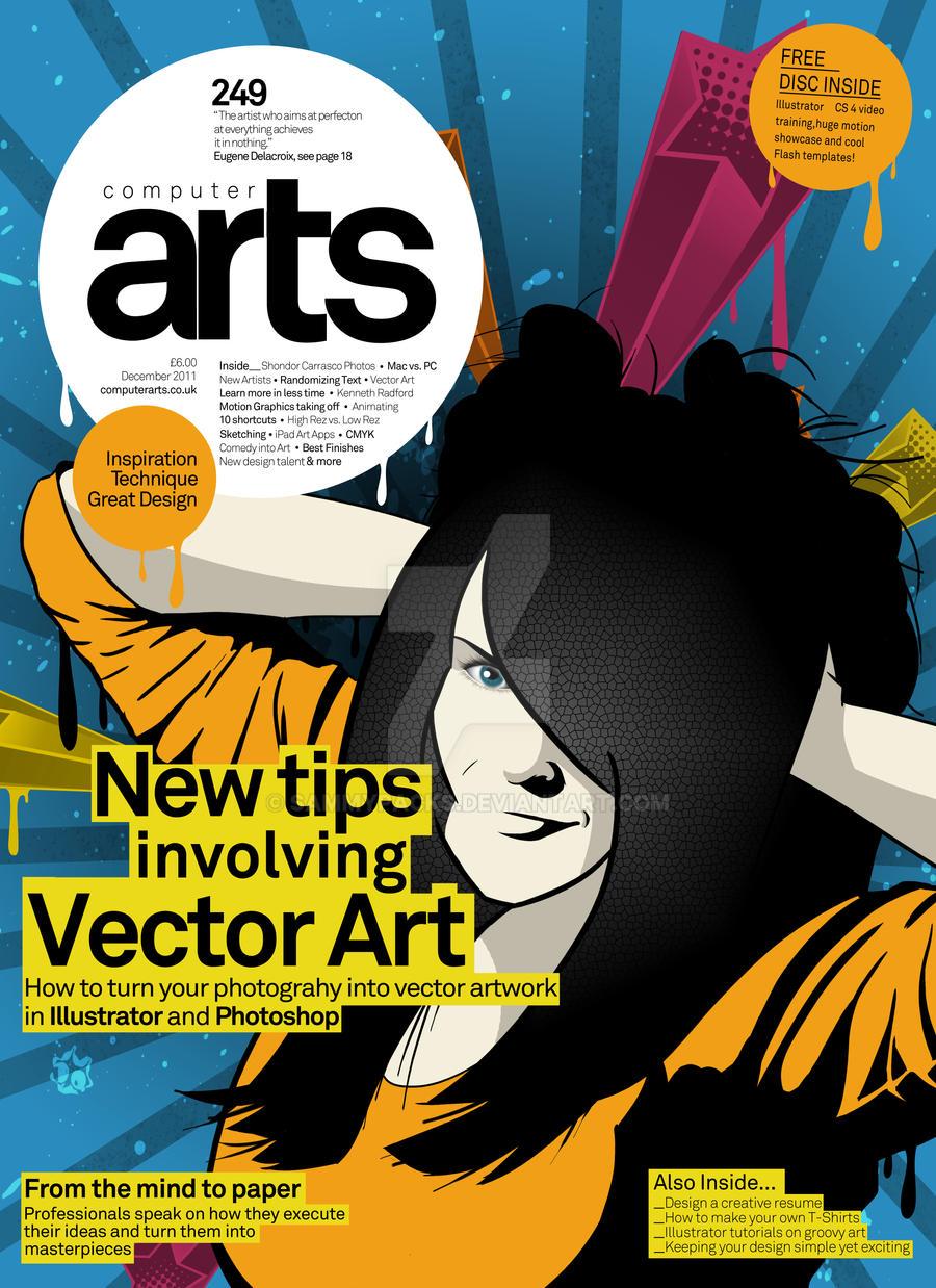 computer arts magazine cover by sammypacks on deviantart. Black Bedroom Furniture Sets. Home Design Ideas