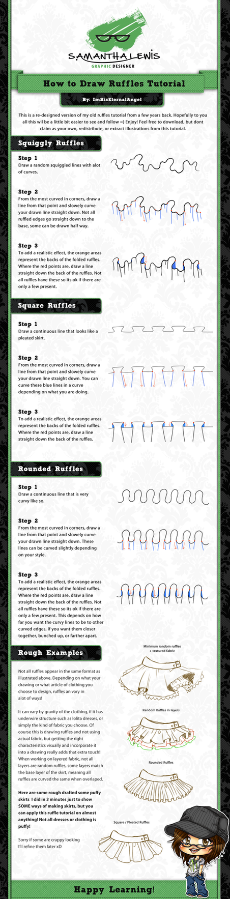 How To Draw Ruffles Tutorial by ImHisEternalAngel