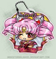 Chibi Moon Bust Keychain by EmeraldAngelStudio