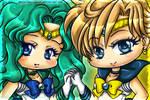 Neptune and Uranus