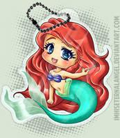 Ariel Keychain by EmeraldAngelStudio