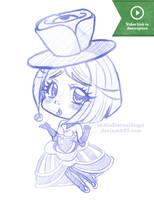 Sketch: Evelyn by EmeraldAngelStudio