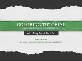 How to use Paint Tool SAI - Coloring Tutorial by EmeraldAngelStudio