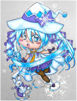 Traditional - Snow Miku by EmeraldAngelStudio