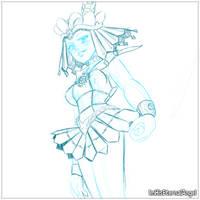 [WIP] Sailor Galaxia Draft for Traditional Color by EmeraldAngelStudio