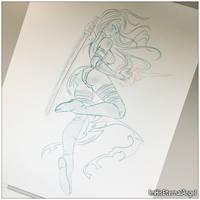 [WIP] Traditional Psylocke by EmeraldAngelStudio