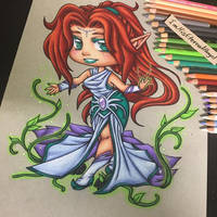 Traditional Chibi Commission 1 by EmeraldAngelStudio