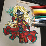 Traditional Chibi Commission 2 by EmeraldAngelStudio