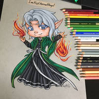 Traditional Chibi Commission 3 by EmeraldAngelStudio