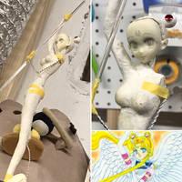 WIP - Eternal Sailor Moon Sculpture (Trashed) by EmeraldAngelStudio