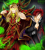 Kael and Reno Commission by EmeraldAngelStudio