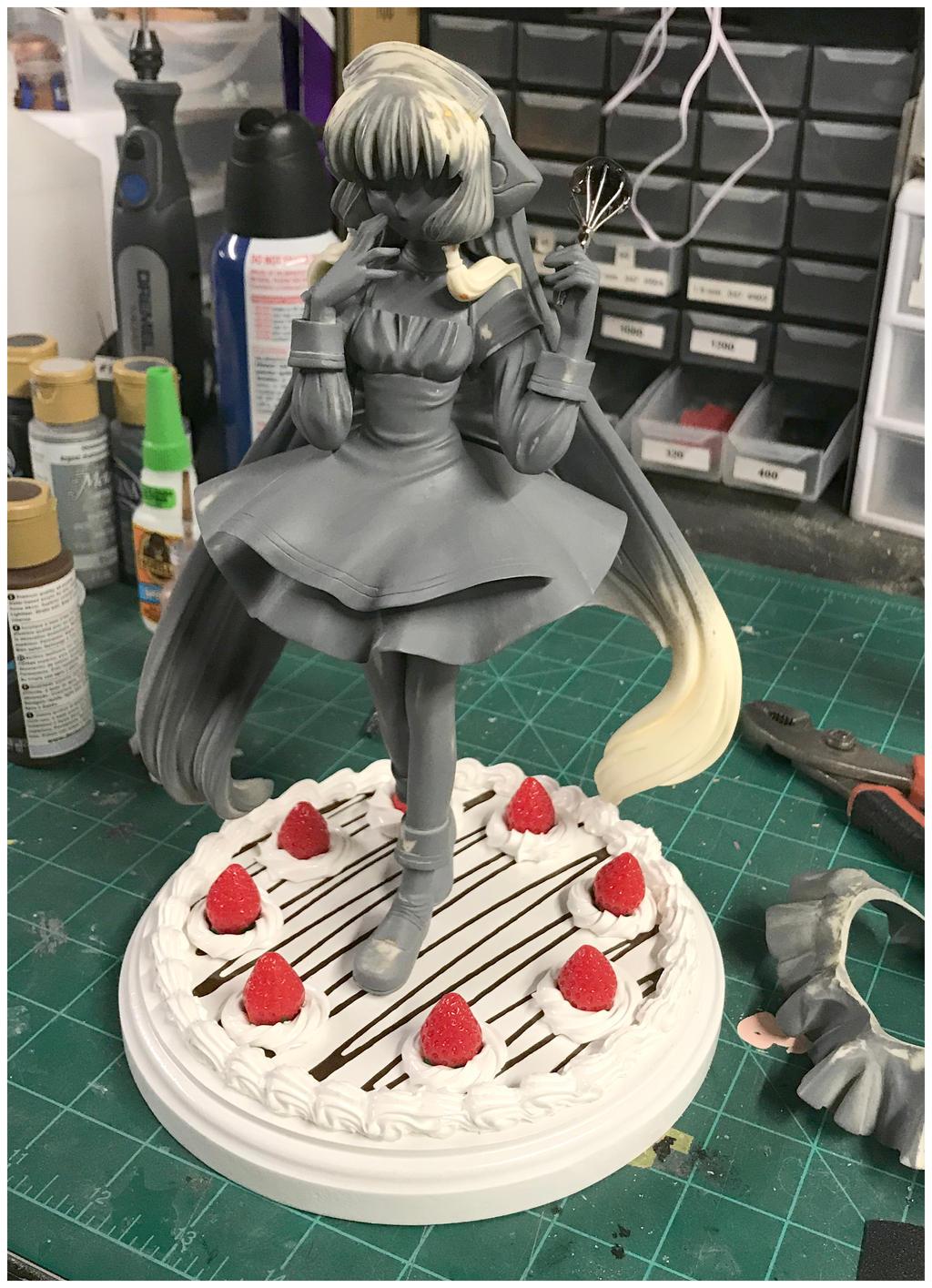 WIP Chii (with Custom Cake Base) by EmeraldAngelStudio