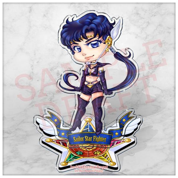 (Pre-Order) Sailor Star Fighter Acrylic Standee by EmeraldAngelStudio
