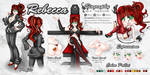 Commission: Reference Sheet: Rebecca by EmeraldAngelStudio