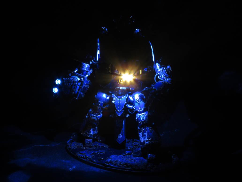 Hawkshroud Knight with LEDs by EmeraldAngelStudio