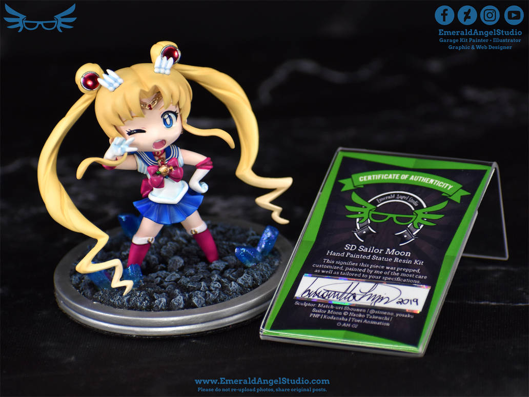 Commission: SD Sailor Moon Garage Kit