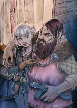 Young Ciri and Yarpen
