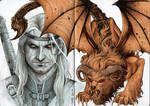 Geralt of rivia and the Manticore