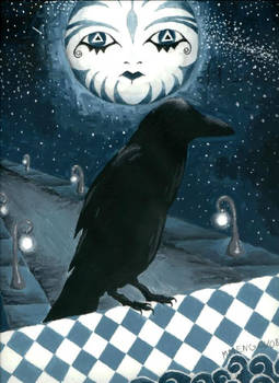 the raven and the moon