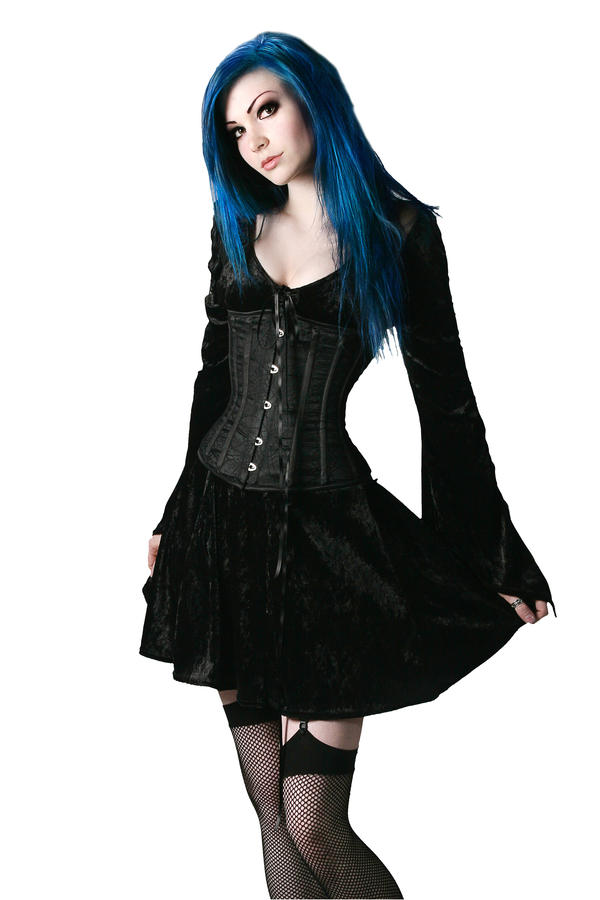 Velvet dress by TwiggX