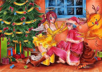 Jingle bells, jingle bells... by Kyoko-Taide