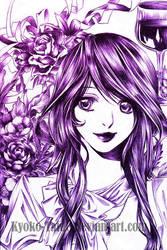 Purple Lady by Kyoko-Taide