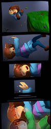 Undertale - fell down (probably spoilers) by AremiAltaria-san