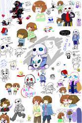 Undertale - art dump so big he l p by AremiAltaria-san