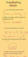 Handwriting maymay