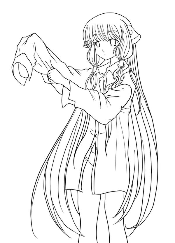 Chobits coloring pages for kids