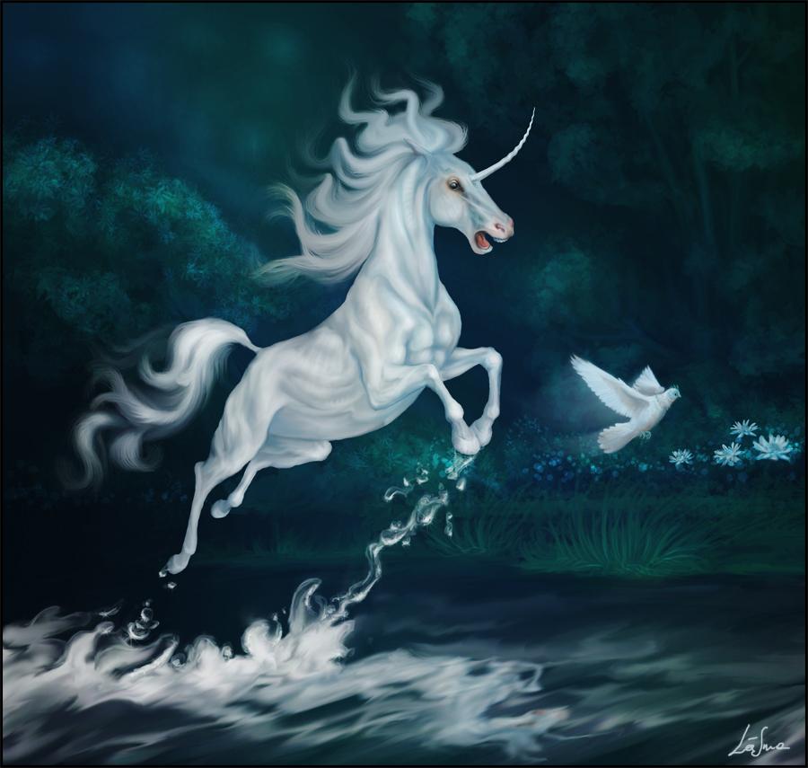White unicorn by Igriel