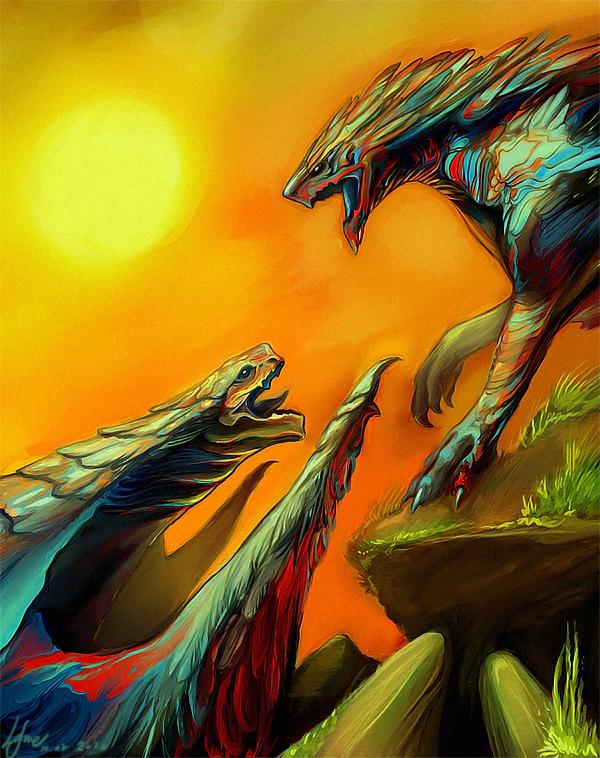 2 Dragons by Igriel