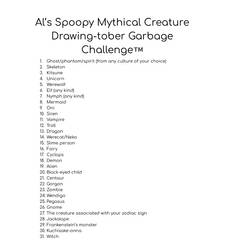 I made an art challenge for October by XxSomeHomestuckxX