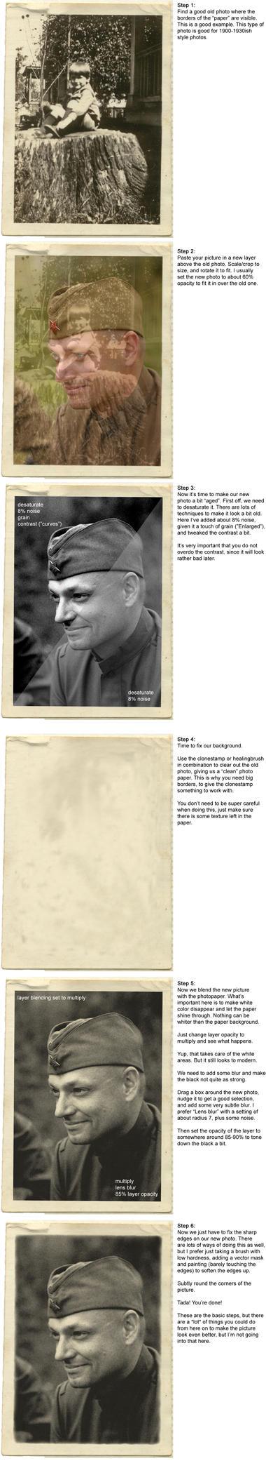 Vintage photos tutorial by nahkampf