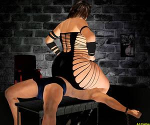Tina Harukawa using the interrogation bench. by AC-FemDom