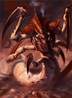 Tyranid Ravener Artwork by Zergwing